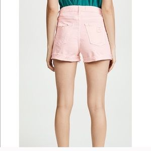 MOTHER Denim peach shorts